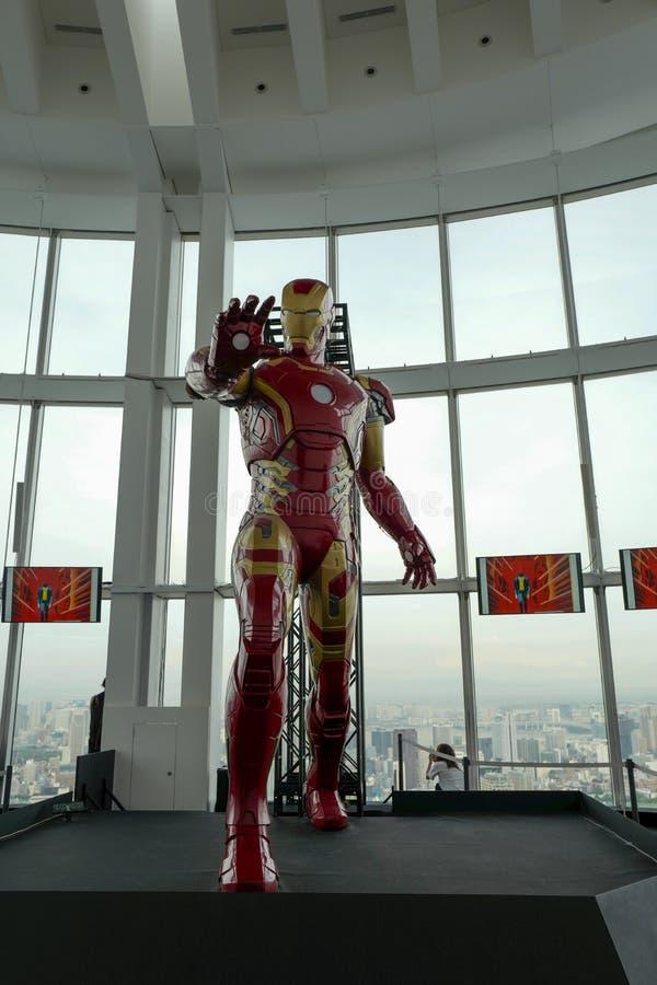 ET? di MERAVIGLIA della mostra di EROI che tiene nel Roppongi Hills Il modello dell'uomo del ferro ? visualizzato nella mostra fotografie stock