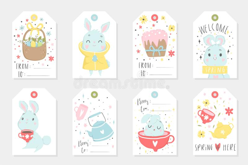 Et of easter gift tags and labels with cute cartoon characters and download et of easter gift tags and labels with cute cartoon characters and type design stock negle Choice Image