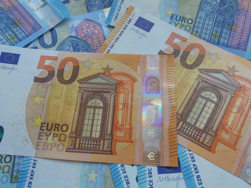 50 et 20 euro notes, Union européenne photos libres de droits