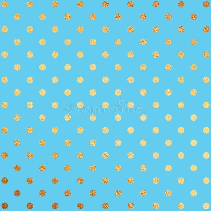 Or et fond bleu d'aluminium illustration de vecteur