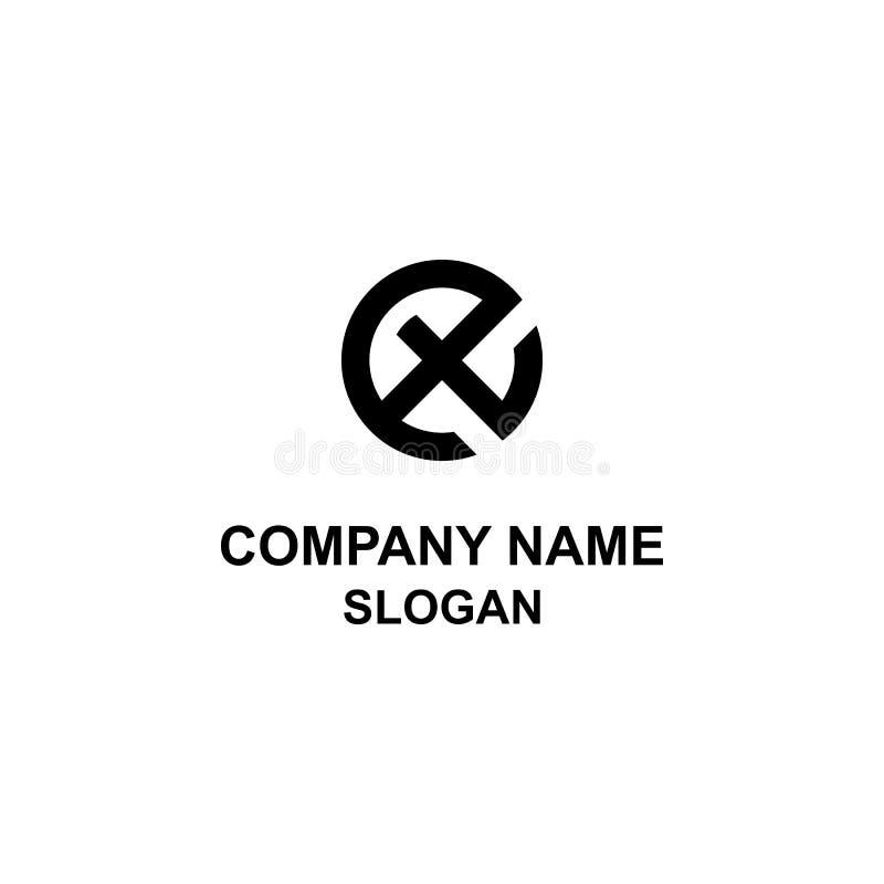 ET listu inicjału okręgu logo ilustracji