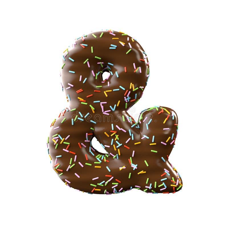 Et-symbole de chocolat d'isolement sur le fond blanc photos stock
