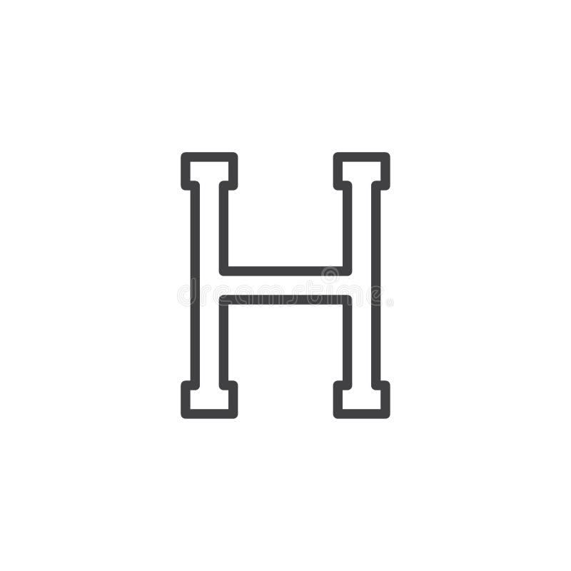 Eta listu konturu ikona ilustracja wektor