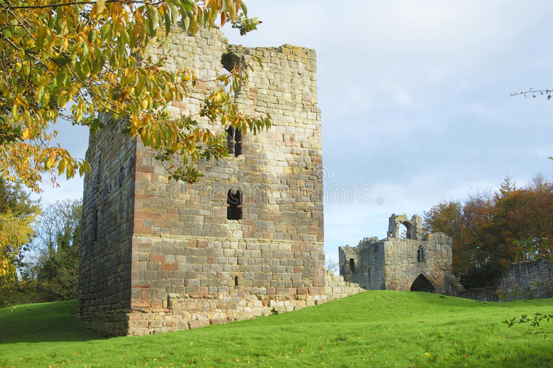 Etal Castle Tower And Gatehouse Stock Photography
