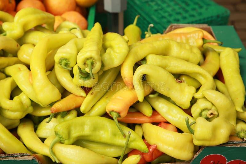 Etalage de fruits et légumes photographie stock
