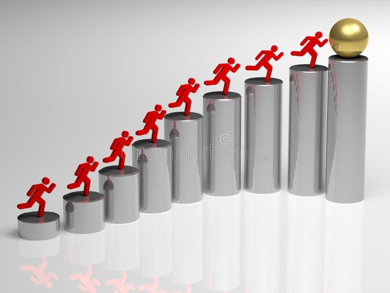 Etapa ao sucesso ilustração stock