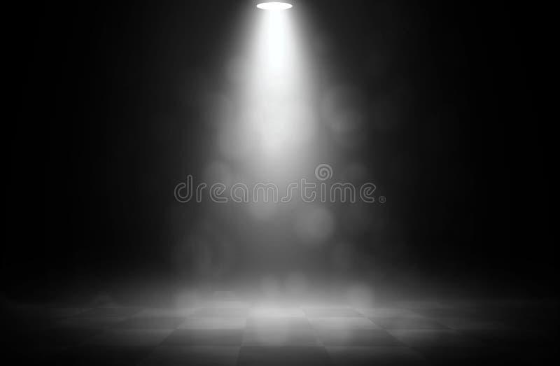 Etapa blanca del bokeh del proyector en competir con stock de ilustración