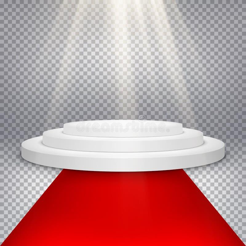 Etapa con las luces escénicas EPS 10 stock de ilustración