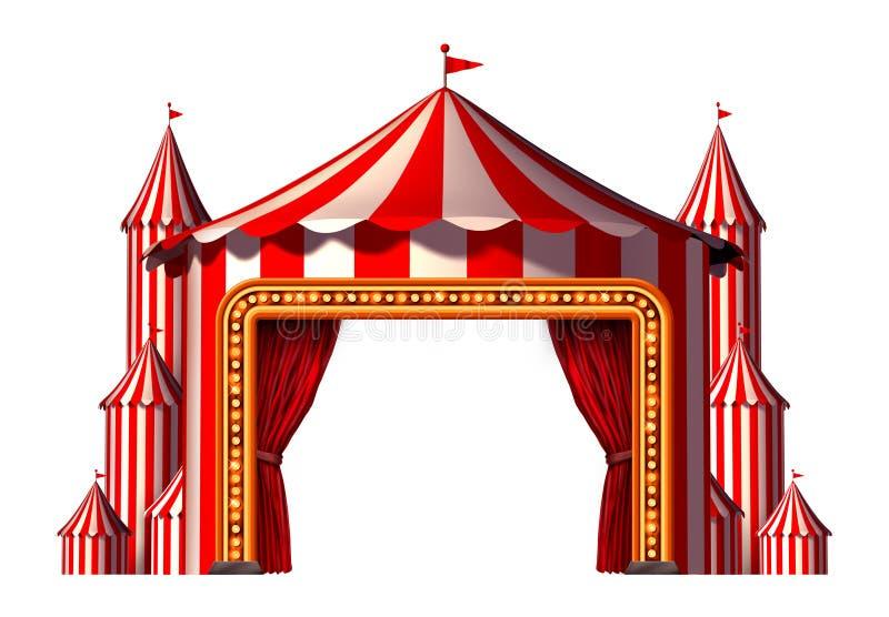Etapa de espacio en blanco del circo stock de ilustración