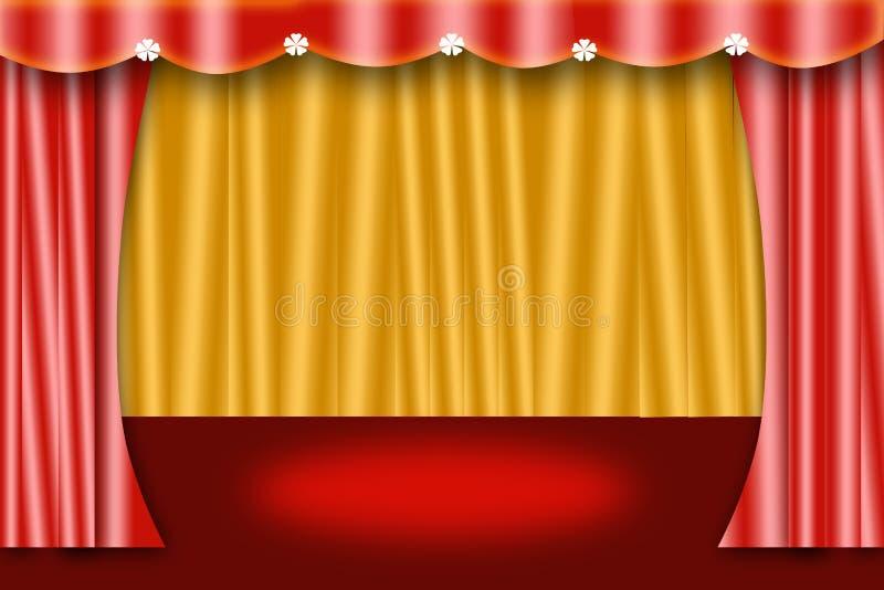 Etapa de la cortina foto de archivo