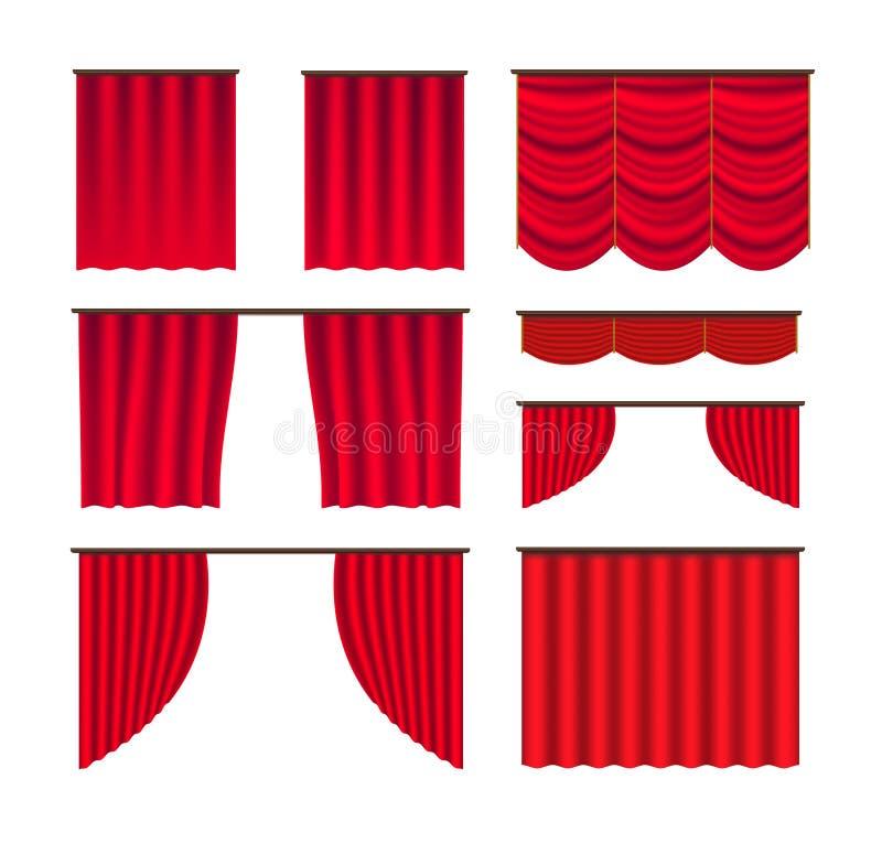 Etapa de la cortina stock de ilustración