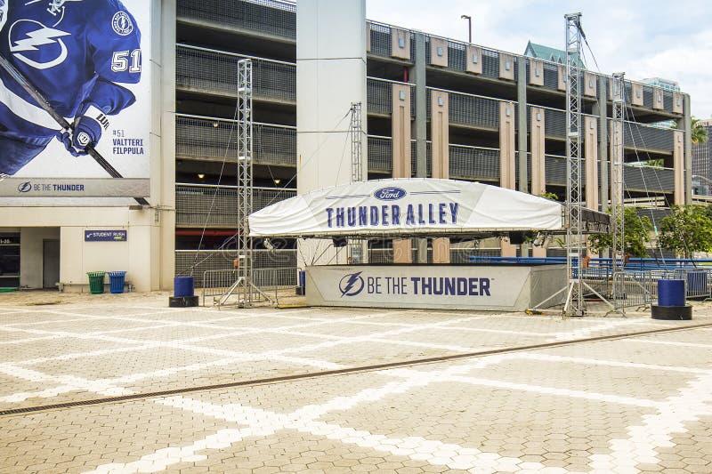 Etapa del entretenimiento de iluminación de Tampa Bay fotos de archivo