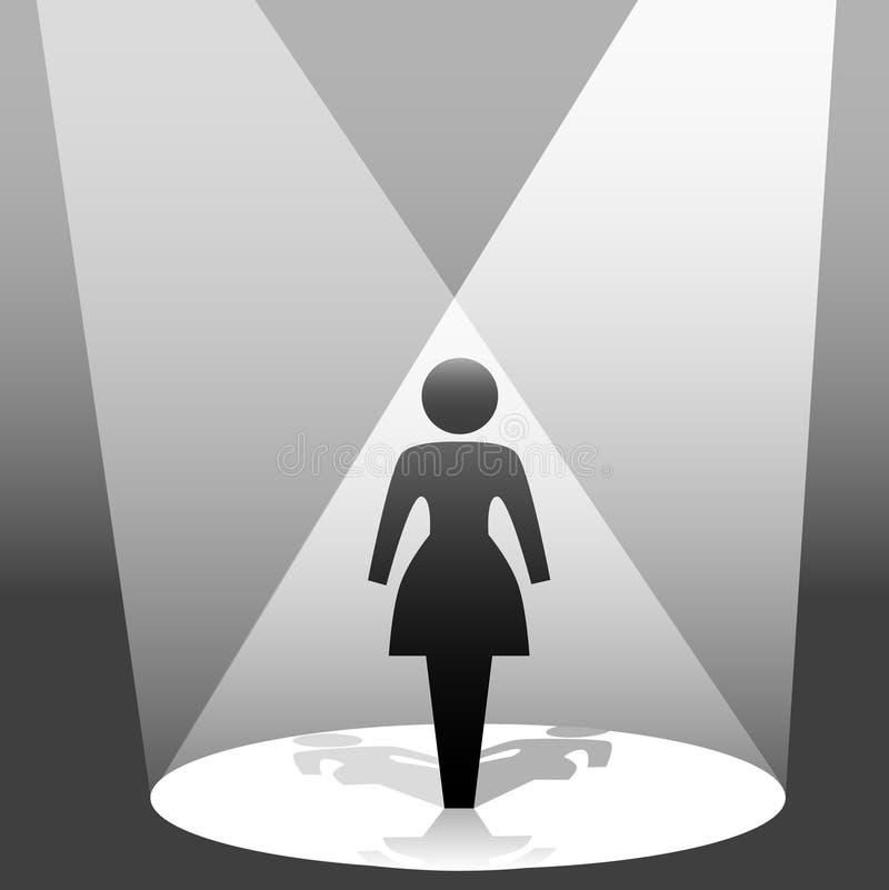 Etapa del proyector de la mujer del símbolo libre illustration
