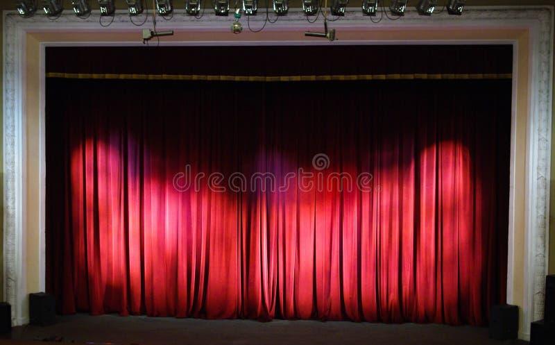 Etapa del teatro. Interior del teatro. foto de archivo