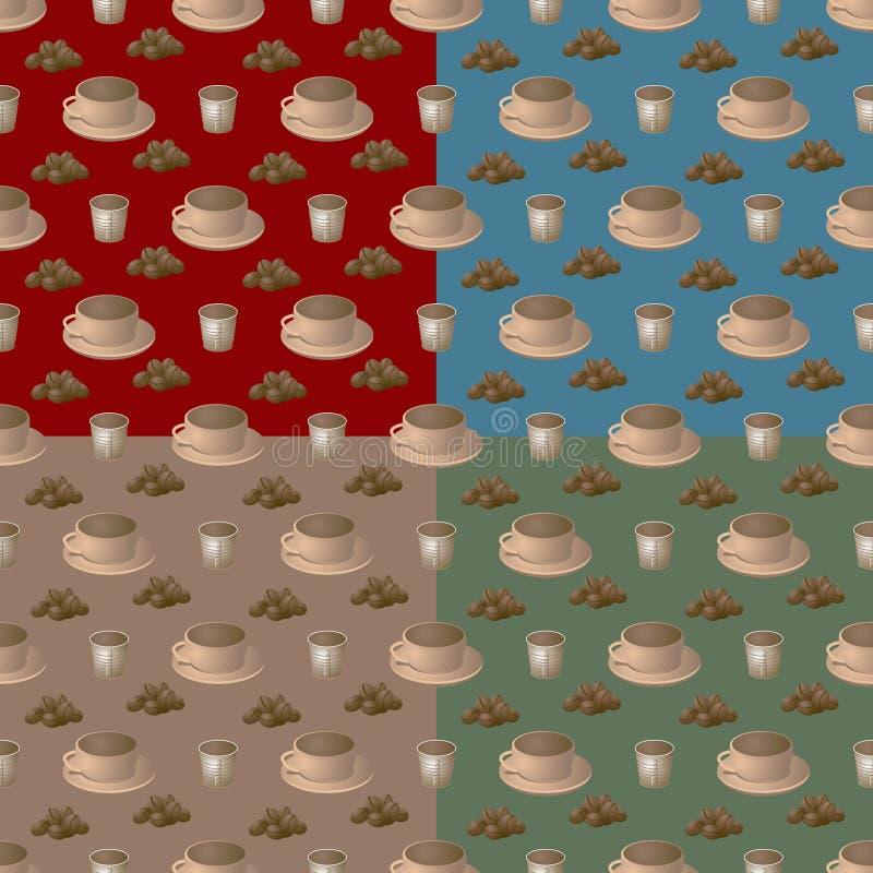 Etapa do café multi ilustração stock