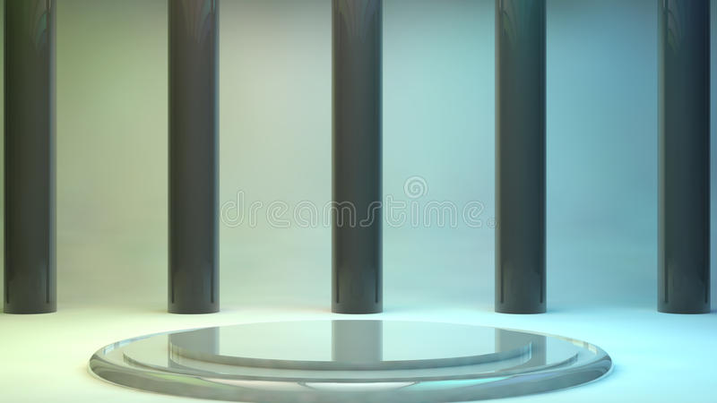 etapa futurista 3d stock de ilustración