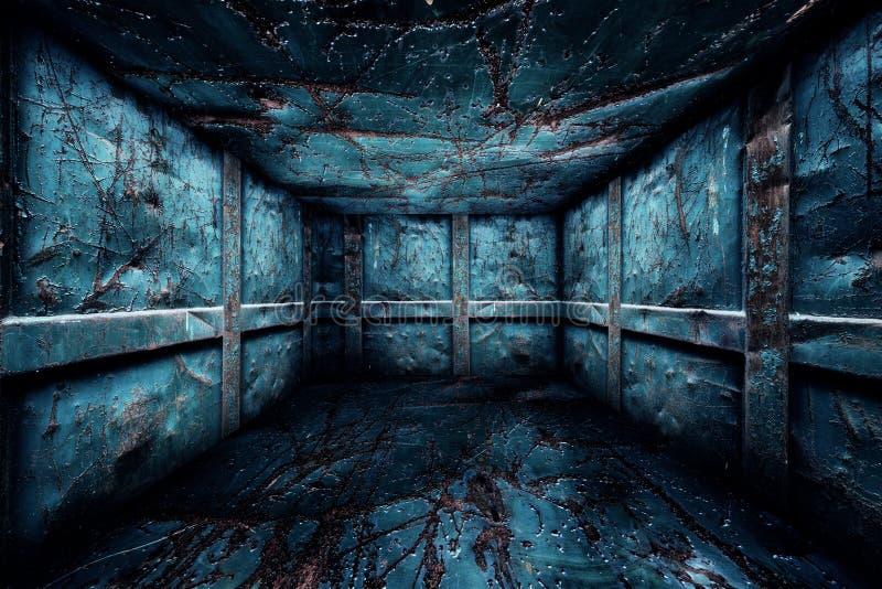 Etapa interior del sitio del metal urbano abstracto stock de ilustración