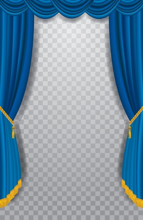Etapa vertical del azul del transporte ilustración del vector