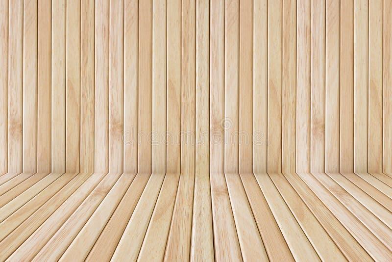 Etapa y pared de madera del piso foto de archivo libre de regalías