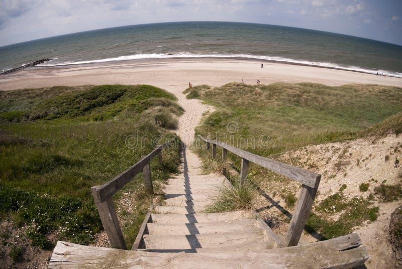 Etapas à praia fotos de stock royalty free