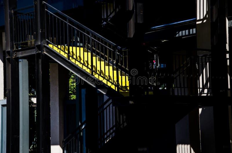 Etapas amarelas fotografia de stock royalty free
