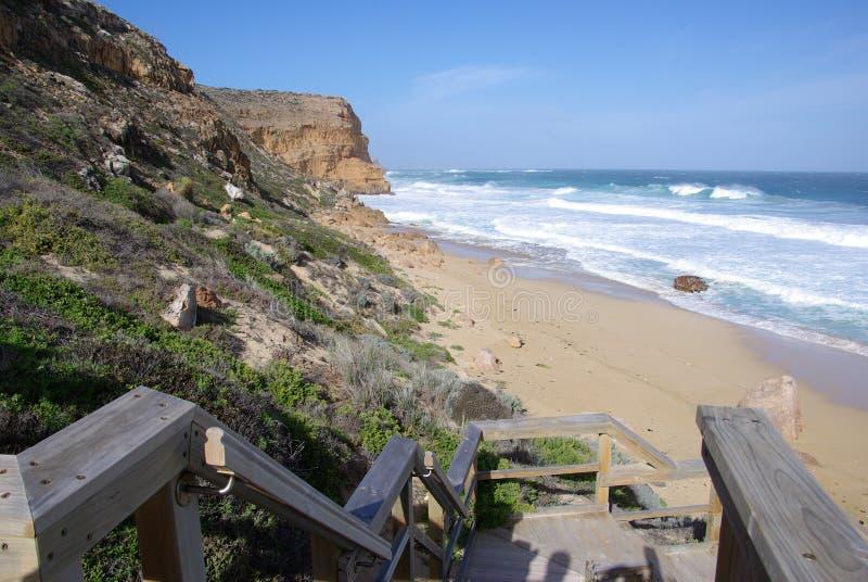 Etapas da praia de Ethel fotos de stock royalty free