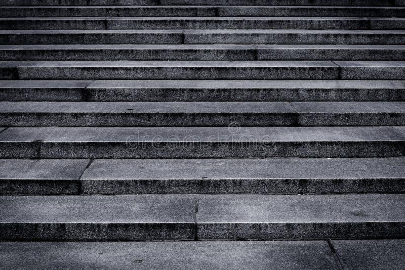 Etapas das escadas do granito imagens de stock