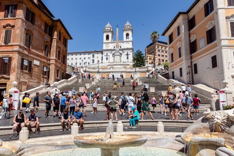 Etapas espanholas e Praça di Spagna - Roma, Itália imagem de stock