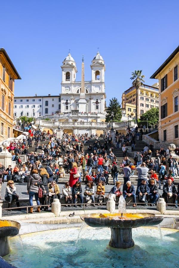 Download Etapas Espanholas Em Roma, Italy Foto de Stock Editorial - Imagem de feriado, europeu: 80101333