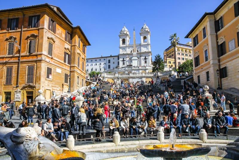 Download Etapas Espanholas Em Roma, Italy Imagem Editorial - Imagem de arquitetura, feriado: 80102415