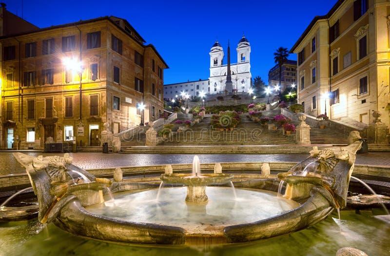 Etapas espanholas, Roma - Itália fotografia de stock