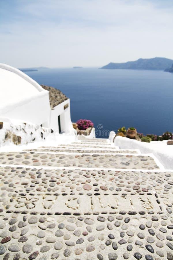 Etapas no console de Santorini fotos de stock royalty free