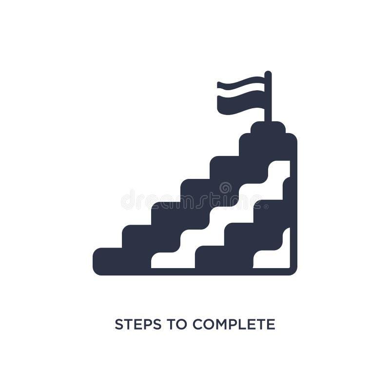 etapas para terminar o ícone no fundo branco Ilustração simples do elemento do conceito da educação ilustração royalty free