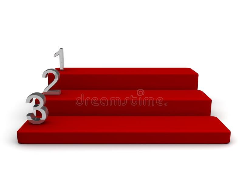 etapp för konkurrensbegreppspris stock illustrationer