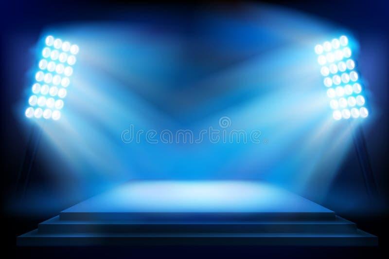 Etapp på stadion också vektor för coreldrawillustration royaltyfri illustrationer