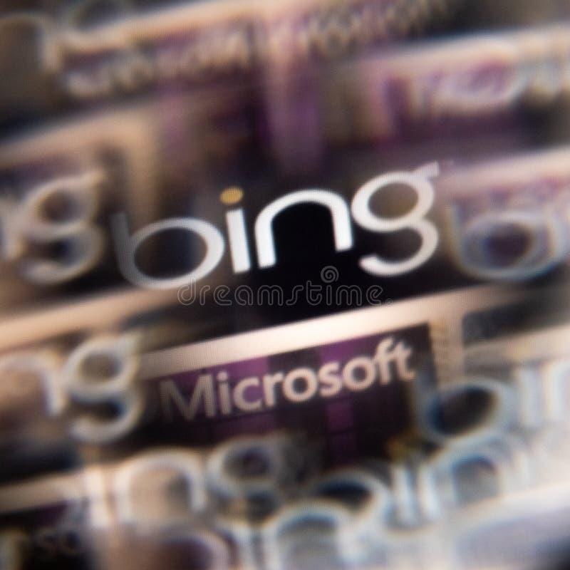 2019,1,28, Etats-Unis, Detroit, fond abstrait de terril de Microsoft Effet de problème, vue brouillée d'écran Photo par un prisme photo stock
