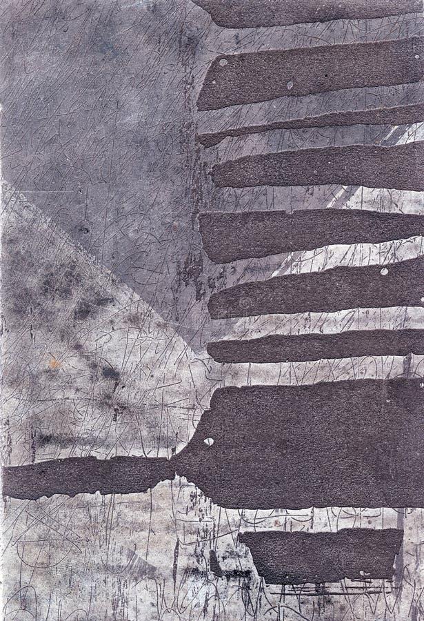 Etching. Metallic surface, abstract art, detail stock illustration