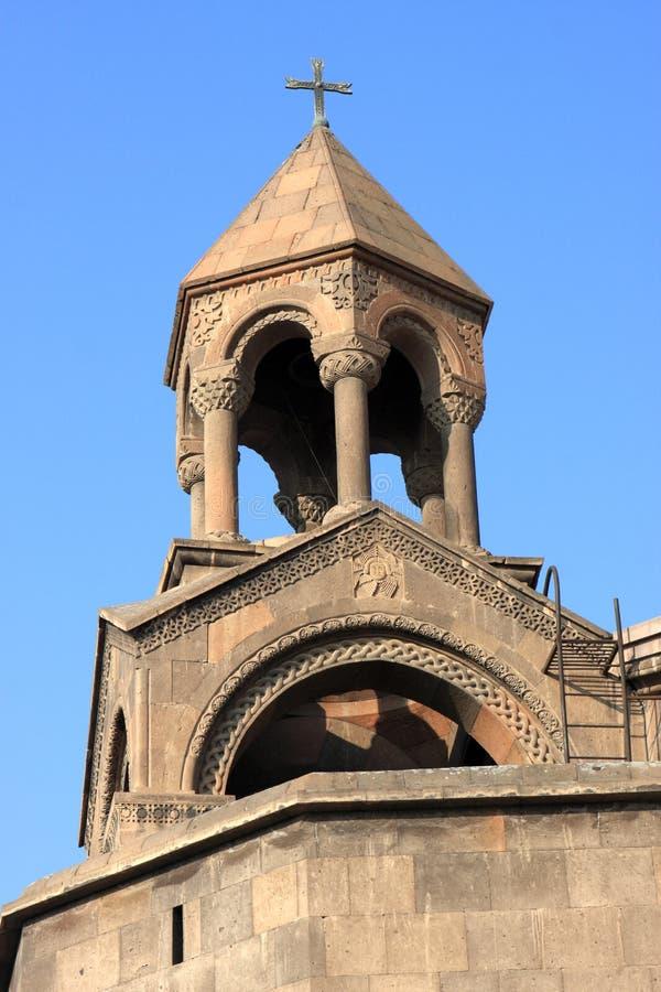 etchmiadzin katedralny wierza obraz royalty free