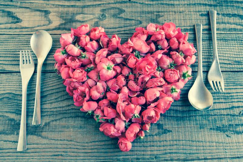 Etend in liefde, denim uitstekend effect stock afbeeldingen