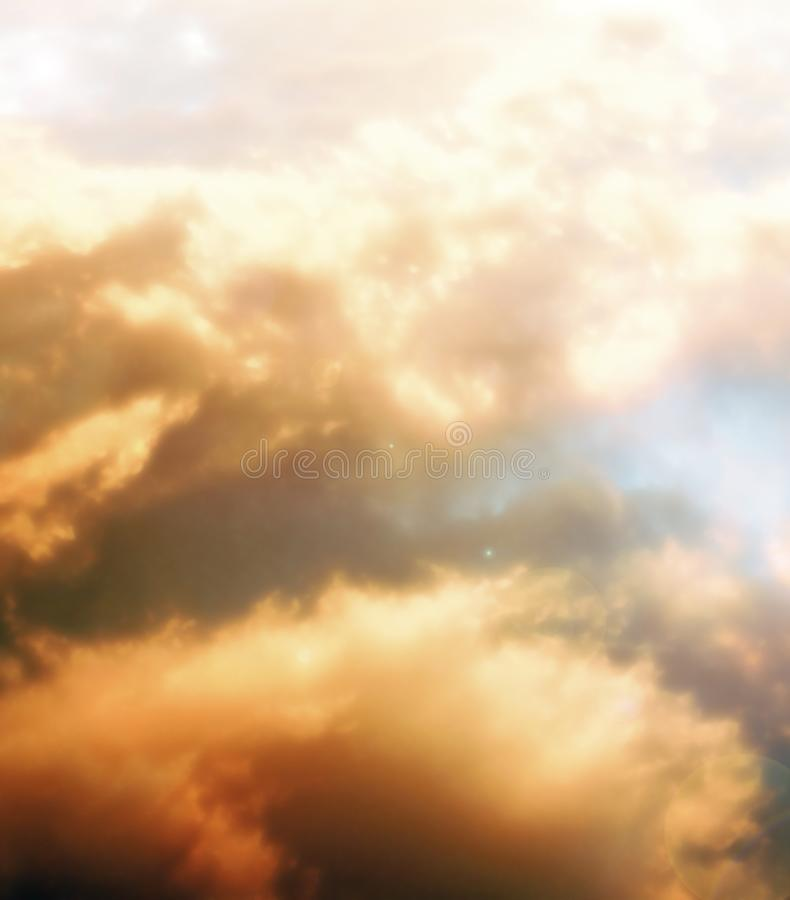 Eteriska moln arkivfoto