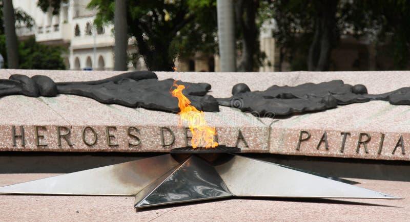 Eternal Flame, Havana, Cuba stock images