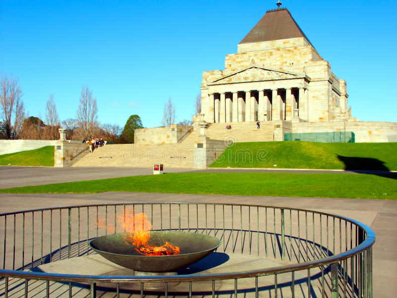 Eternal Flame Shrine of Remembrance stock photography