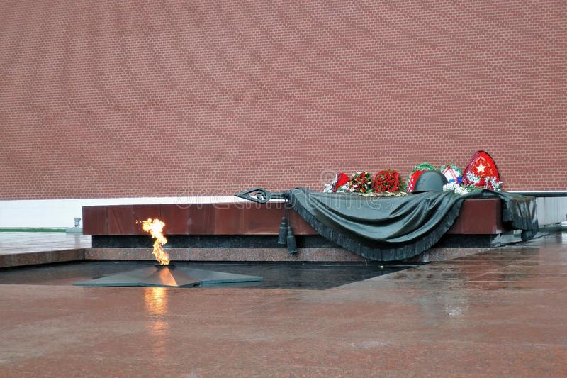 Eternal flame war memorial in Moscow. royalty free stock photography