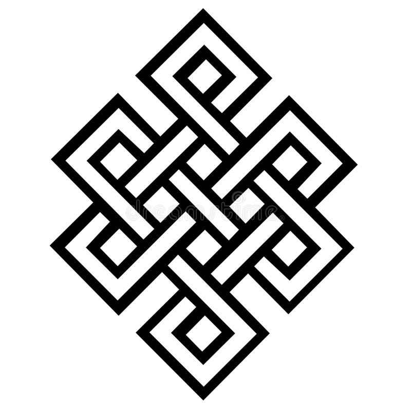 Download Eternal Knot stock illustration. Image of symbol, squares - 33665692