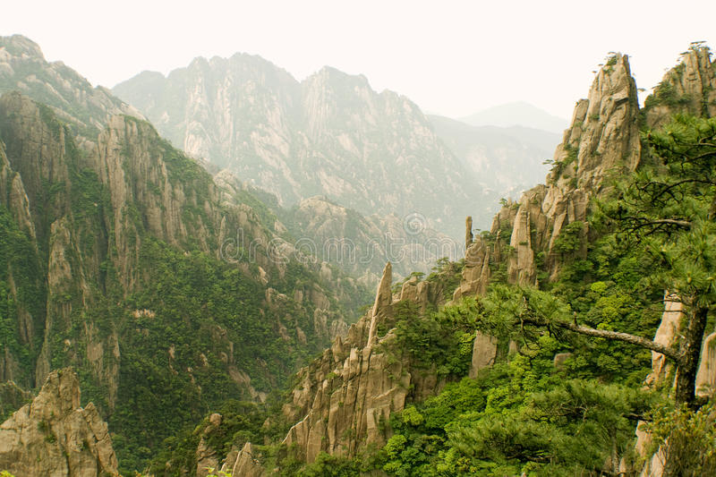 Eternal landscapes, chinese mountains stock image