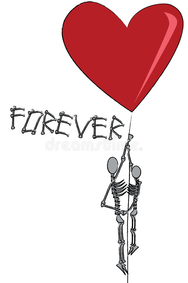 Download Eternal love stock vector. Image of funny, shape, death - 12406533