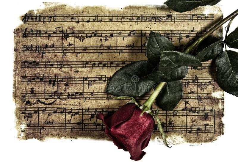 Eternal romantic music royalty free stock photography