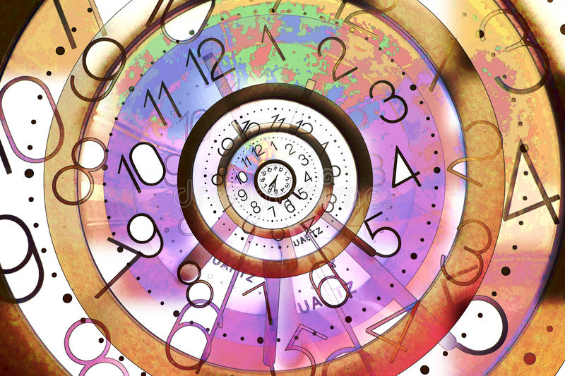 Eternal Time Background royalty free illustration