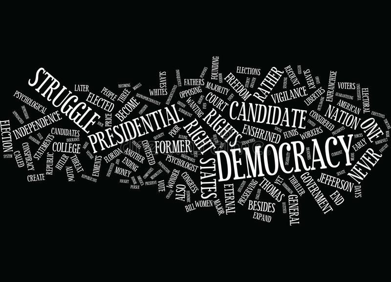 Eternal Vigilance To Protect Democracy Wc Text Background Word Cloud Concept royalty free illustration