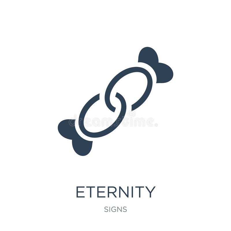 Eternity icon in trendy design style. eternity icon isolated on white background. eternity vector icon simple and modern flat. Symbol for web site, mobile, logo vector illustration